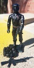 NEW G.I.JOE CUSTOM BLACK MAJOR COBRA STEEL BRIGADE NIGHT VIPER W/ ACCESSORIES.