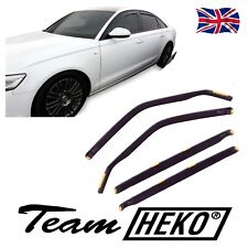 SUN SHADE + Wind Deflectors AUDI A6 C7 4 DOOR SALOON 2011-up 4 pcs HEKO Tinted