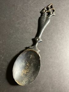 Vintage Heavy Metal Spoon Rest or Wall Decor Piece - Not Branded - Handmade?