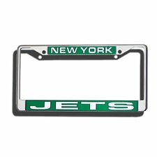 NFL New York Jets Laser Cut Chrome License Plate Frame