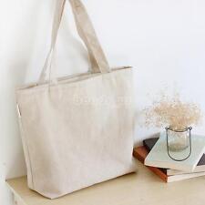Women Canvas Shopping Handbag Shoulder Tote Satchel Eco Messenger Bag Pure Color
