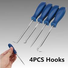 4 Pcs Car Pick & Hook Set O Ring Oil Seal Gasket Puller Remover Craft Hand Tool