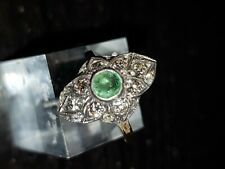 15 carat diamond and Emerald marquise ring