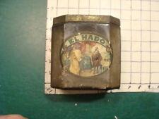 original Advertising GLASS Tin -- EL HADO w label, v early --  tobacco --