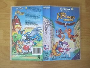 The Rescuers Down Under VHS Video - Walt Disney Original Animated Classic