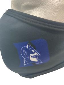 Duke Blue Devils Washable Face Mask Black Cloth Comfortable Reusable Sealed New.