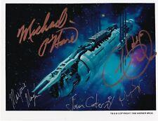 Christian, O'Hare, Monaghan, Carter, Biggs, Babylon 5, Autographed 8 x10