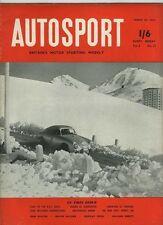 AUTOSPORT 27 Marzo 1953 * RAC RALLY IL PRIMO STADIO *