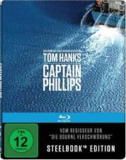 CAPTAIN PHILLIPS (Tom Hanks, Barkhad Abdi) Blu-ray Disc, Steelbook NEU+OVP