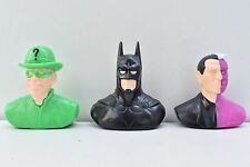 Lot 3 figurines bustes vintage Batman Forever Chewing Bubble Gum Topps 1995 NEUF