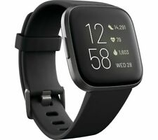 FITBIT Versa 2 with Amazon Alexa - Black & Aluminium - Currys