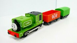 Thomas & Friends Trackmaster Luke Motorized Railway Green Brake Van Train Mattel