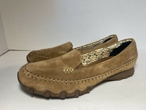 Sketchers Women's Relaxed Fit Size 10 Memory Foam Brown Leather Loafers 48930