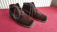 Hudson Winter Schuhe Boots Fell Schnürschuhe Größe 43 Made in Italy Designer