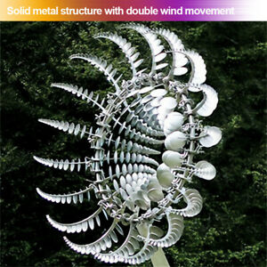 Wind Powered Kinetic Sculpture And Magical Metal Windmill