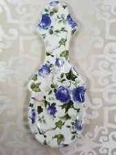 Vintage Beautiful Oriental Blue roses Ceramic Spoon Rest Used England