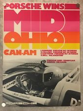 1973 Porsche 917-30 Can-Am Mid Ohio Victory Showroom Advertising Poster RARE