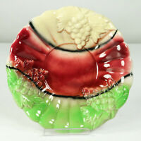 Obstschale Spritzdekor Keramik Modell 317 Weintrauben 30er - 40er Jahre Vintage