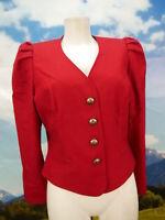 Neuwertig und tailliert Loden Blazer von Alphorn in rot Trachtenjacke Gr.40