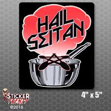 Hail Seitan Metal Sticker Decal Vegan Health Food Vegetarian Diet Punk Rock Pun