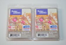 Better Homes & Gardens x2 Warm Spring Sunshine Scented Wax Cubes New 2.5 oz