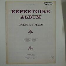 violin & piano BOSWORTH REPERTOIRE ALBUM
