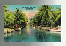 Mint Vintage Yacht Basin Coconut Grove Miami Florida Real Picture Postcard
