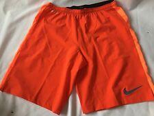 Para Hombre Nike Pro Combat Pantalones Cortos Naranja De Entrenamiento Fútbol Americano/deslizante