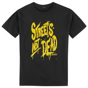 Icon Streets Not Dead Motorbike Motorcycle T-Shirt Black