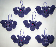 6 HANDMADE Knit CROCHET Hang BATS Kids TOY DOLL for HALLOWEEN Holiday CHRISTMAS