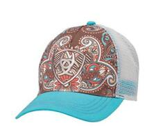 d22dc5bf8c8 Ariat Womens Hat Baseball Cap Paisley One Size Blue Brown 1543827
