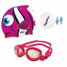 HYDRO Swimming Goggle, Ear Plug & Pink Fish Cartoon Cap, Single & 2Pack For Kids