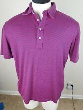 Mens Polo Golf by Ralph Lauren Vintage Lisle Short Sleeve Striped Shirt Sz Large