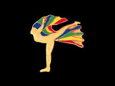 Rainbow Gymnastics Dancer Lapel Pin - Great Floor Exercise Design