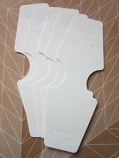 50 X Collar Pulsera Colgante Joyería De Papel Tarjetas de pantalla encontrar Blanco..