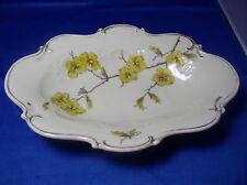 Antique Sorau Carstens Porcelain Floral Oval Bowl Made IN Germany CNU6 Rare