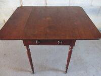 Early 19th Century Mahogany drop leaf Pembroke table (ref 1208)