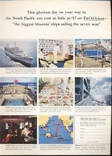 1965 P&O Orient Lines Cruise Ship Various Scenes PRINT AD