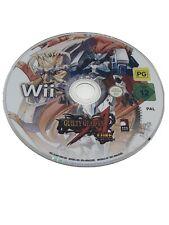 Guilty Gear XX Accent Core Plus-Nintendo Wii/U PAL Spiel Disk nur in sehr guter Zustand