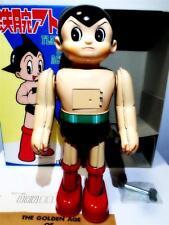 RARE Vintage Billiken Osaka Japan Astro Boy Robot Flapping Door Tin Toy Mint