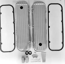 Big Block Chevy Tall Polished Valve Covers Ball Milled Aluminum 454 w/ Gaskets