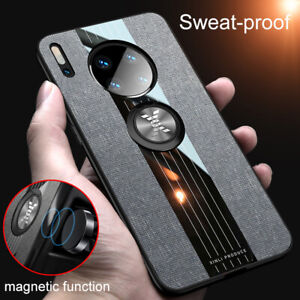 Sweatproof Ring Holder Case Cover For Huawei Mate 30 Pro Lite 20 Y7 Y9 P30 P20