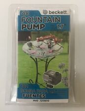 Beckett Fountain Pump 48 Galloons Per Hour 7219810 - NIP