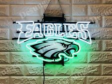 "New Philadelphia Eagles Light Beer Lamp Neon Sign 20"" With Hd Vivid Printing"