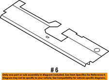 FORD OEM Radiator Core Support-Sight Shield Splash Cover Panel 9L8Z9E961A