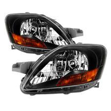 Toyota 07-11 Yaris 4dr Sedan Black Housing Replacement Headlights RS CE Core LE
