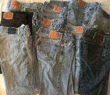 10 Pr Distressed Mens Blue Jeans Levis 505 Lee Lg Mixed Lot Denim Straight Fit