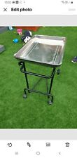 Adjustable High Stainless Steel Tray Trolly Beauty Art Tray