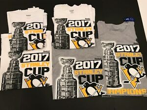 New Reebok 2017 Stanley Cup Champions Pittsburgh Penguins T-shirt