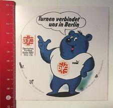 Aufkleber/Sticker: Deutsches Turnfest Berlin '87 - Puma  (090316137)